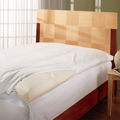 Protector de plumas para cama downlite blancos - Protector de cama ...